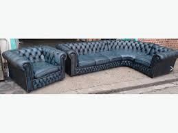 Chesterfield Sofa Suite Antique Blue Vintage Corner Chesterfield Sofa Suite We