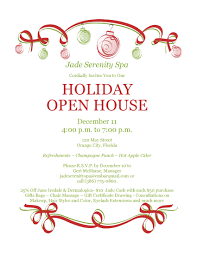 invitation holiday open house invitation template