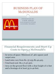 floor plan of a business business plan of mcdonalds