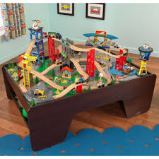 kidkraft train table compatible with thomas super highway train set and table