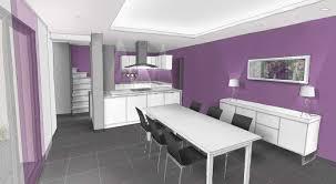 cuisine violette séjour cuisine décoration violet blanc gris archi cochez com
