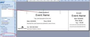 how to make raffle tickets on word how to generate sequentially numbered documents using publisher
