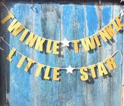 twinkle twinkle decorations gold glittery twinkle twinkle garland baby shower
