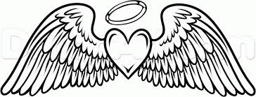 Hearts With Wings - coloring pages of wings with wings coloring pages wing