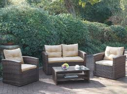 Cushions For Wicker Patio Furniture by Jb Patio Patio Wicker 4 Piece Seating Group With Cushions