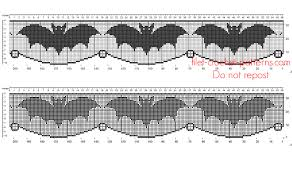 Free Halloween Border by Crochet Filet Pattern Halloween Border With Bats Free Filet