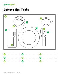 How To Set A Table How To Set The Table Prepositions Of Place Sprout English