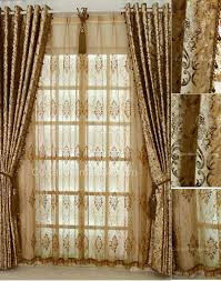 Arched Window Curtain Color Printing Floral Luxurious Style Arch Window Curtains
