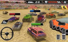 monster truck crash video xtreme demolition derby racing muscle cars crash android apps