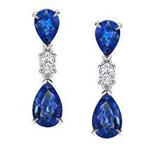 blue earrings gemstone earrings costco