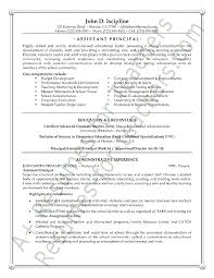 Long Term Substitute Resume Principal Resume Sles 28 Images Assistant Principal Resume