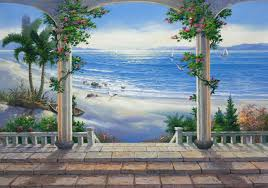 bathroom tile murals barilochehousecom superb wall murals for bedroom 7 ocean