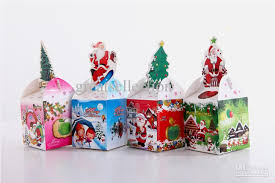 wholesale christmas christmas gift box packing foldable paper box green blue