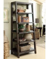 Ladder Bookcase by Riverside Promenade Canted Bookcase Warm Cocoa Hayneedle