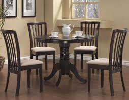 Microfiber Dining Room Chairs Cappuccino Round Single Pedestal Dining Table