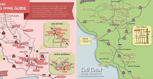 California Wine Country Map Central Coast Sparkling Wine Map Ca U0027s