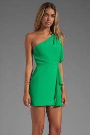 green silk one shoulder dress other dresses dressesss