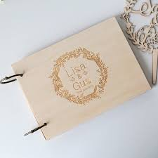 Engraved Wedding Albums Aliexpress Com Buy 2016 Personalized Wedding Guest Book Rustic