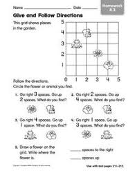 give and follow directions homework 1st 2nd grade worksheet