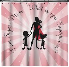 Pink Gingham Shower Curtain Super Mom Shower Curtain Potty Training Concepts