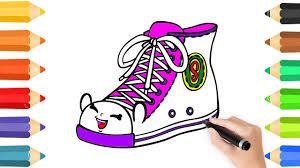coloring pages shoe u0026 rainbow coloring learning coloring pages