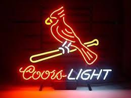 coors light bar sign new mlb st louis cardinals coors light beer baseball neon sign 17