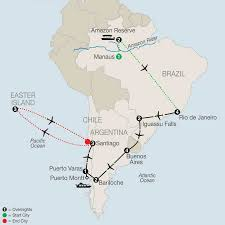 South America Rivers Map by Travel To Easter Island U0026 Tour Brazil Globus