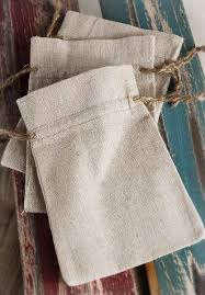 favor bags linen 4x6 favor bags with jute cord
