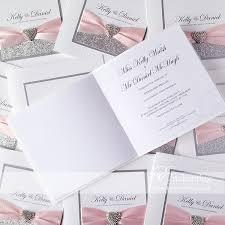 Silver Wedding Invitations Pale Pink U0026 Silver Wedding Invitations From The Cinderella