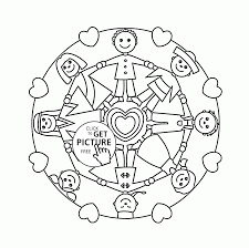 people together earth day coloring page for kids coloring pages