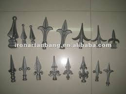 ornamental iron fence finials cast iron spearhead lanceted cast