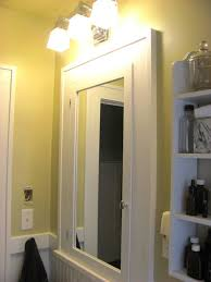 framed bathroom mirror diy city gate beach road white cabinet with