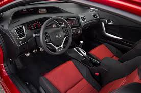 2009 Honda Civic Coupe Interior 2014 Honda Civic Si Coupe First Test Motor Trend