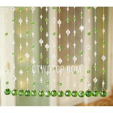 Beads For Curtains Grass Green Outdoor Beaded Curtains Twenty Three Strings Of Beads