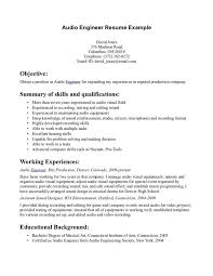 Resume Core Qualifications Examples by 6 Audio Visual Technician Resume Sample Resume Sample Resume For