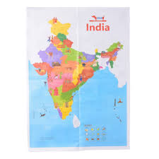 India Map World by Cocomoco Kids India Activity Box With India Map Game Craft