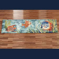 Fish Runner Rug Tails Of The Sea Indoor Outdoor Fish Rug Runner