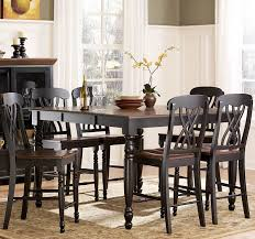 high dining room chairs homelegance ohana 7 piece counter height dining room set in black
