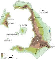 Map Of Santorini Greece by Map Of Santorini Topographic Map Worldofmaps Net Online Maps
