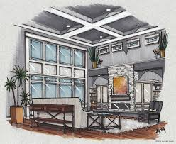 architecture design drawing room how to draw interior perspective