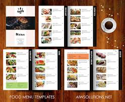 editable menu templates restaurant menu template brochure templates creative market