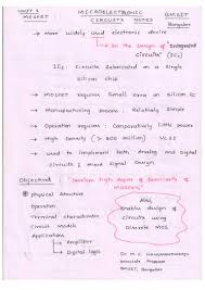 microelectronic circuits 10ec63 notes for visvesvaraya technologica u2026