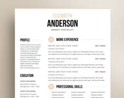 free business resume template and modern resume templates by resumeangels on etsy