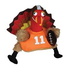 beistle 1 pack decorative plush touchdown turkey hat