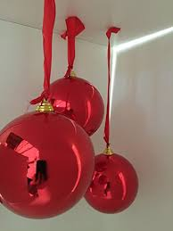 2 large shiny ornaments 12inch two