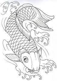 koi fish outline designs elaxsir
