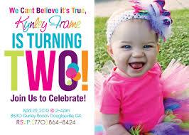 Birthday Invitation Cards Design 2nd Birthday Invitations Afoodaffair Me