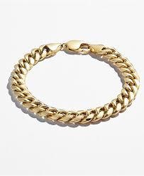 cuban chain bracelet images Macy 39 s cuban chain link bracelet in 14k gold bracelets jewelry tif