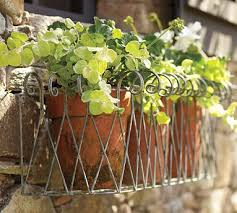 Metal Window Boxes For Plants - iron scroll wall mount window box planter outdoors exteriors