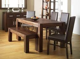Bench Dining Tables Dining Table Set With Bench Modern Home Design